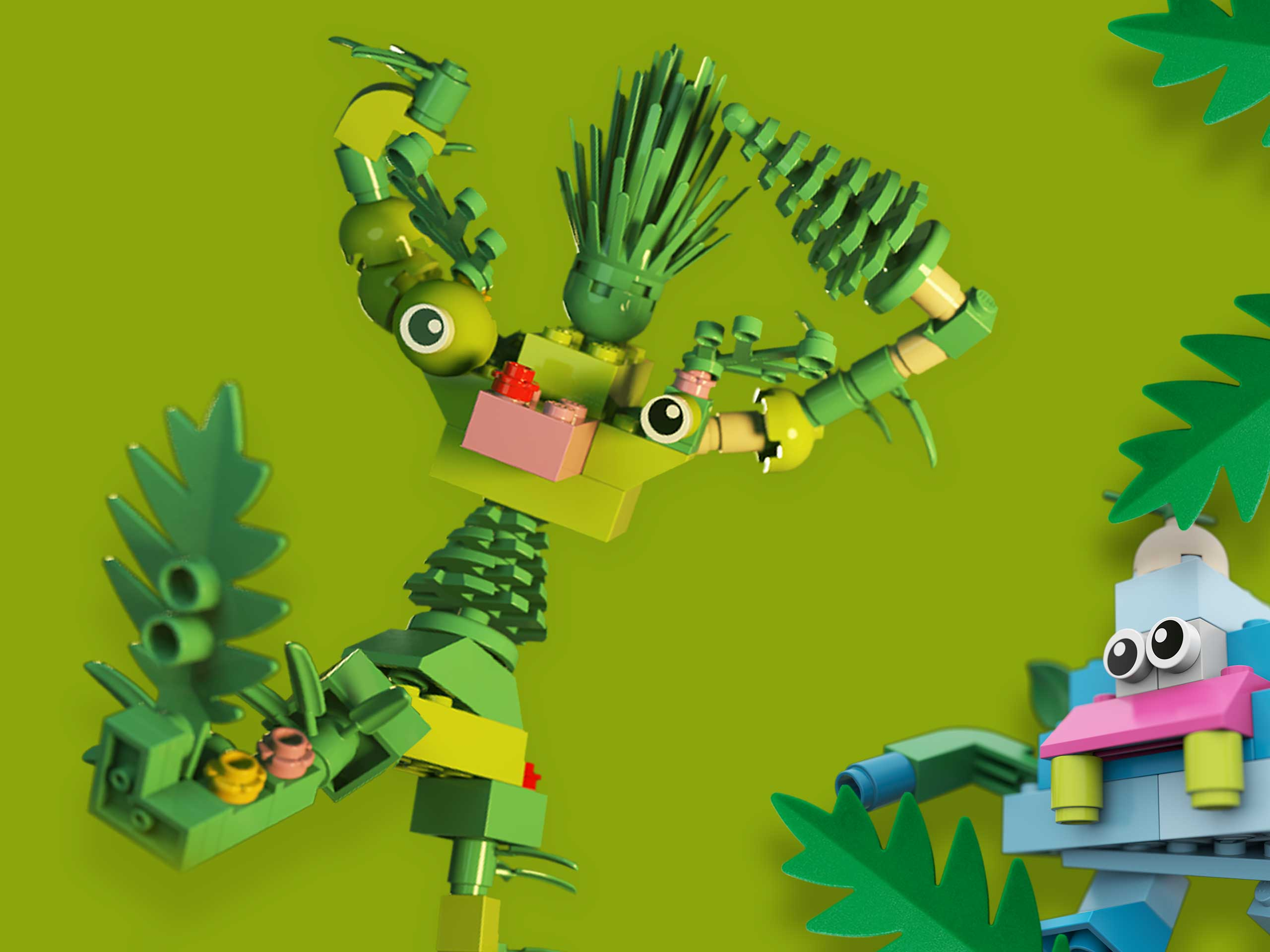 Plants from Plants, using real plants to make LEGO trees