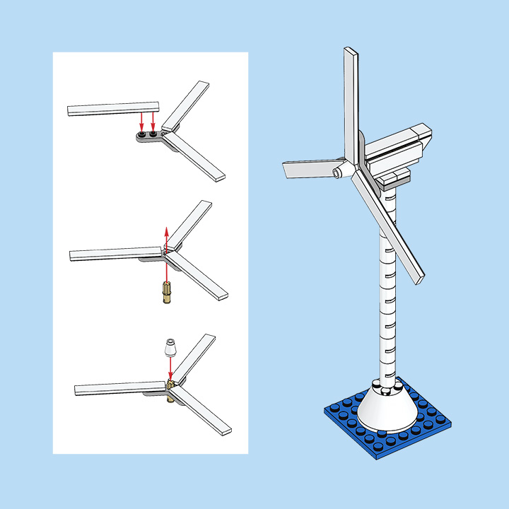 Build your own mini wind turbine with the bricks you have at home