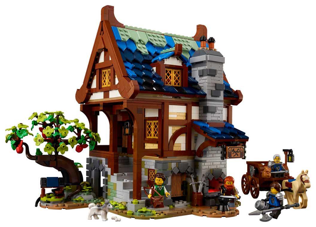 LEGO: New Ideas # 21325 Medieval Blacksmith set presented