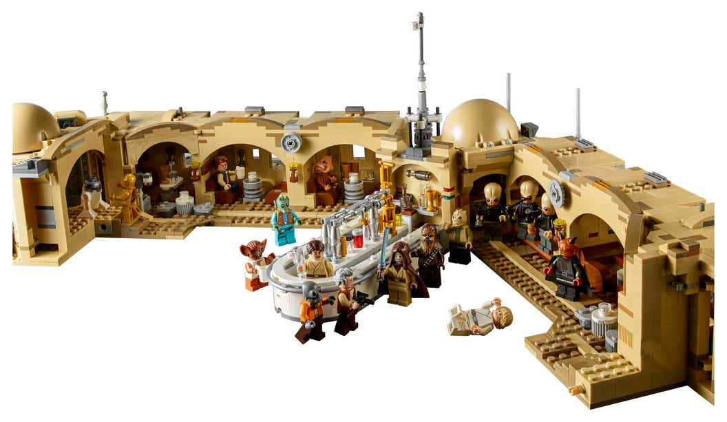Back view of the inside of the cantina LEGO set