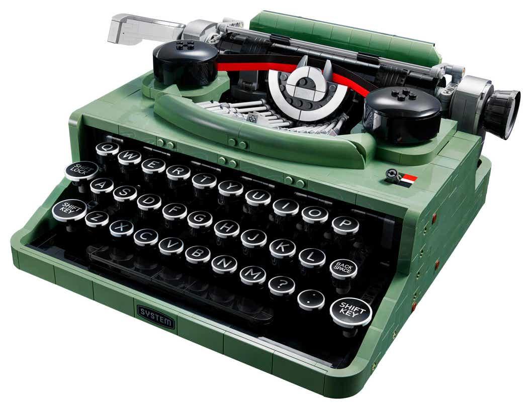 Product image of the LEGO Ideas Typewriter