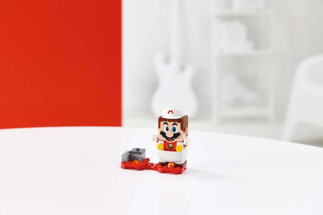 Image of LEGO Super Mario with Fire Mario Power-Up Pack