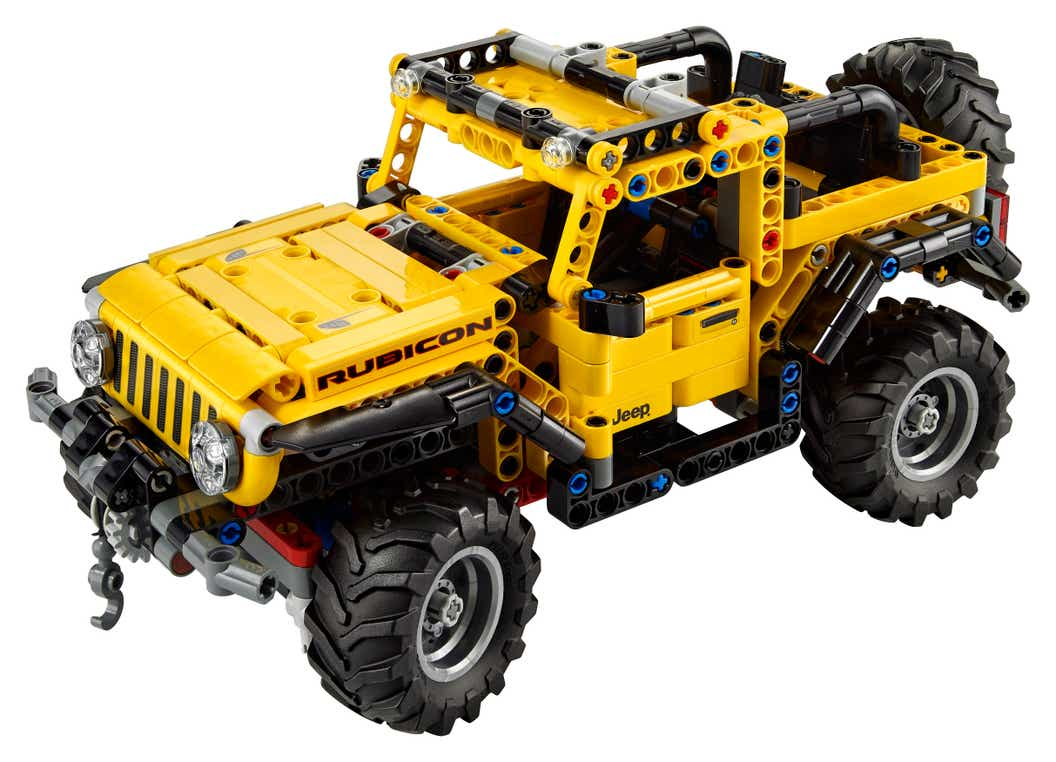 Image of the LEGO Technic Jeep Wrangler on a white background