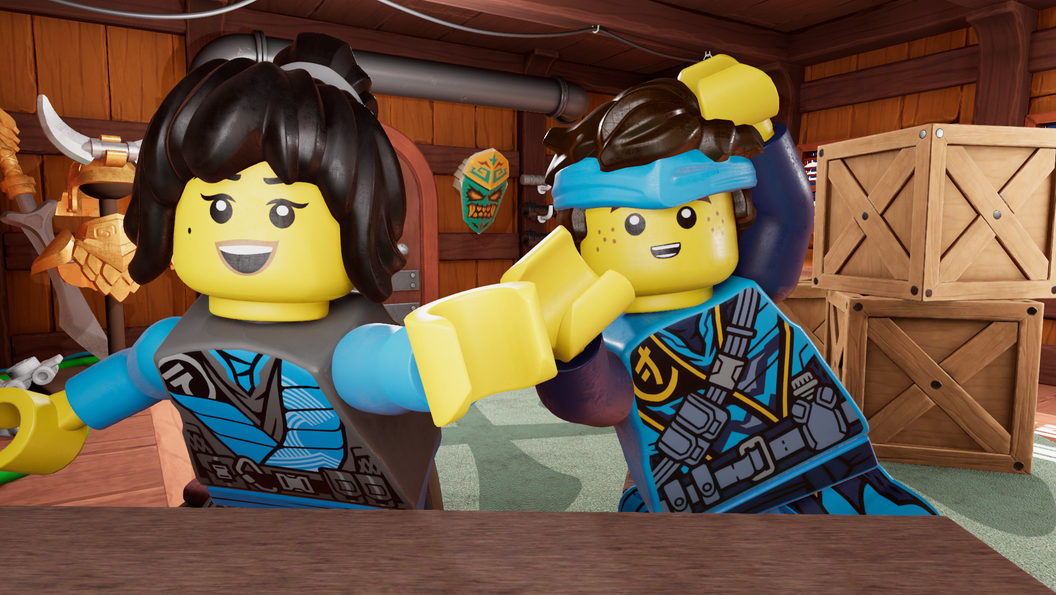 Animated image of Jay and Nya in the Bounty