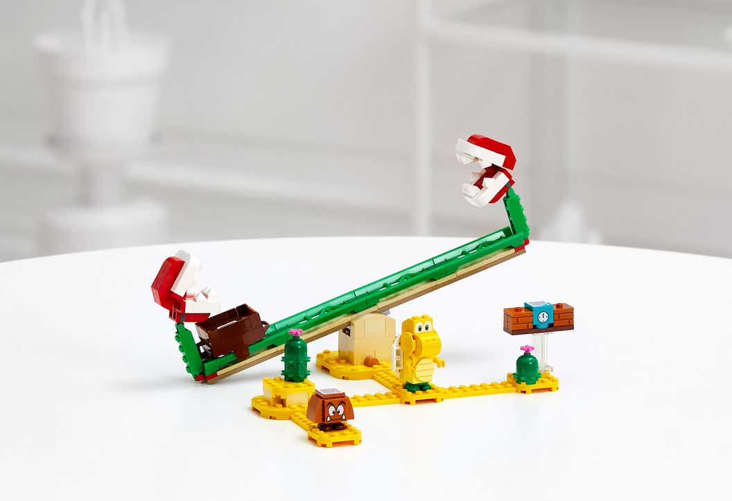 Lifestyle image of LEGO Super Mario expansion set product