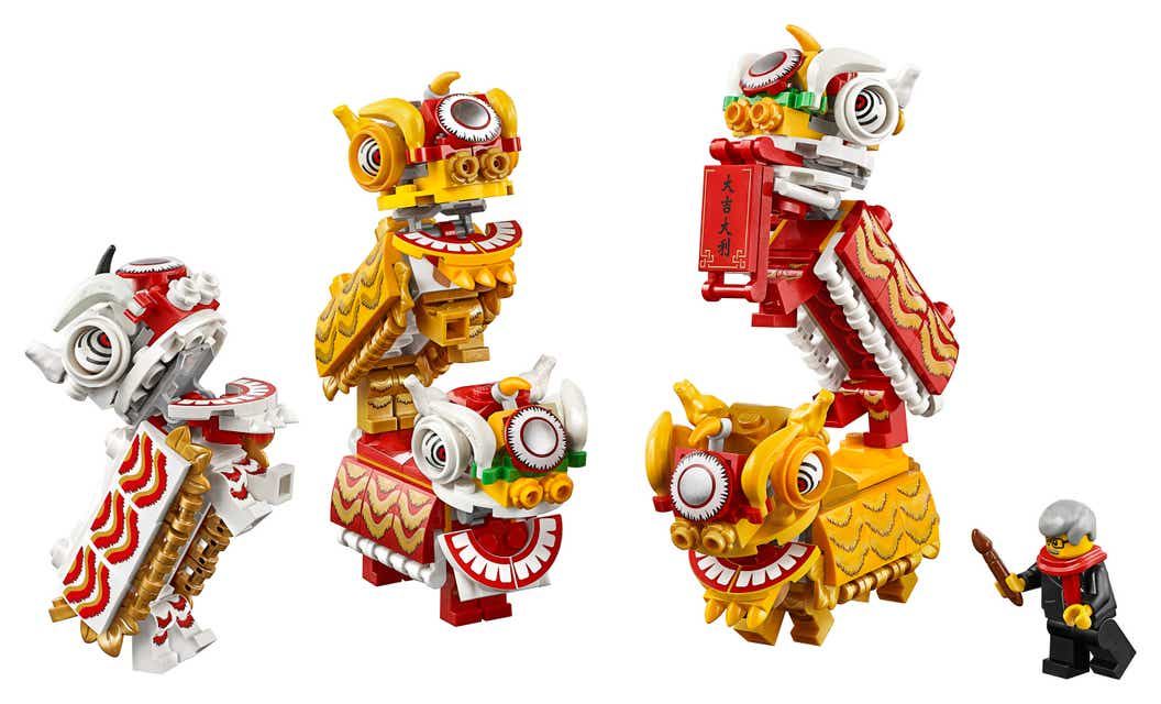 Celebrate The Chinese New Year With Lego Lion Dance And Traditional Temple Fair About Us Lego Com Us