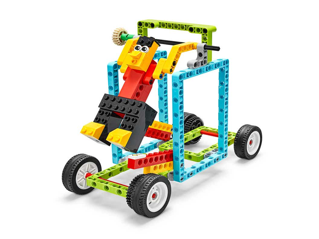 Image of the LEGO Education BricqMotion vehicle on a white backdrop