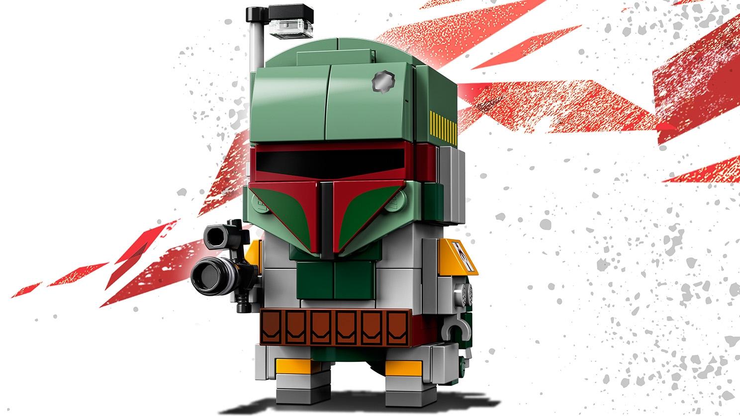 LEGO Brickheadz - 41629 Boba Fett - Build a LEGO Brickheadz version of the bounty hunter Boba Fett from the movie Star Wars: Episode V The Empire Strikes Back and display on a baseplate.