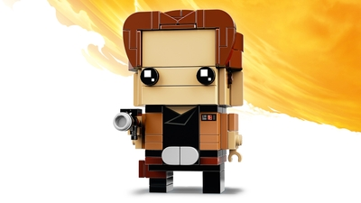 LEGO Brickheadz - 41608 Han Solo - Build a LEGO Brickheadz figure of Han Solo from the Star Wars saga. Check out his iconic brown jacket, utility belt and trusty blaster!