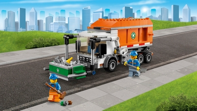 LEGO City Great Vehicles garbage truck, dumpster and minifigures – Garbage Truck 60118