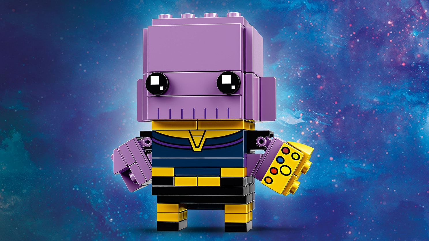 LEGO Brickheadz - 41605 Thanos - Build a LEGO Brickheadz figure of Thanos from the Avengers: Infinity War movie. Check out his purple skin and blue chest armor.