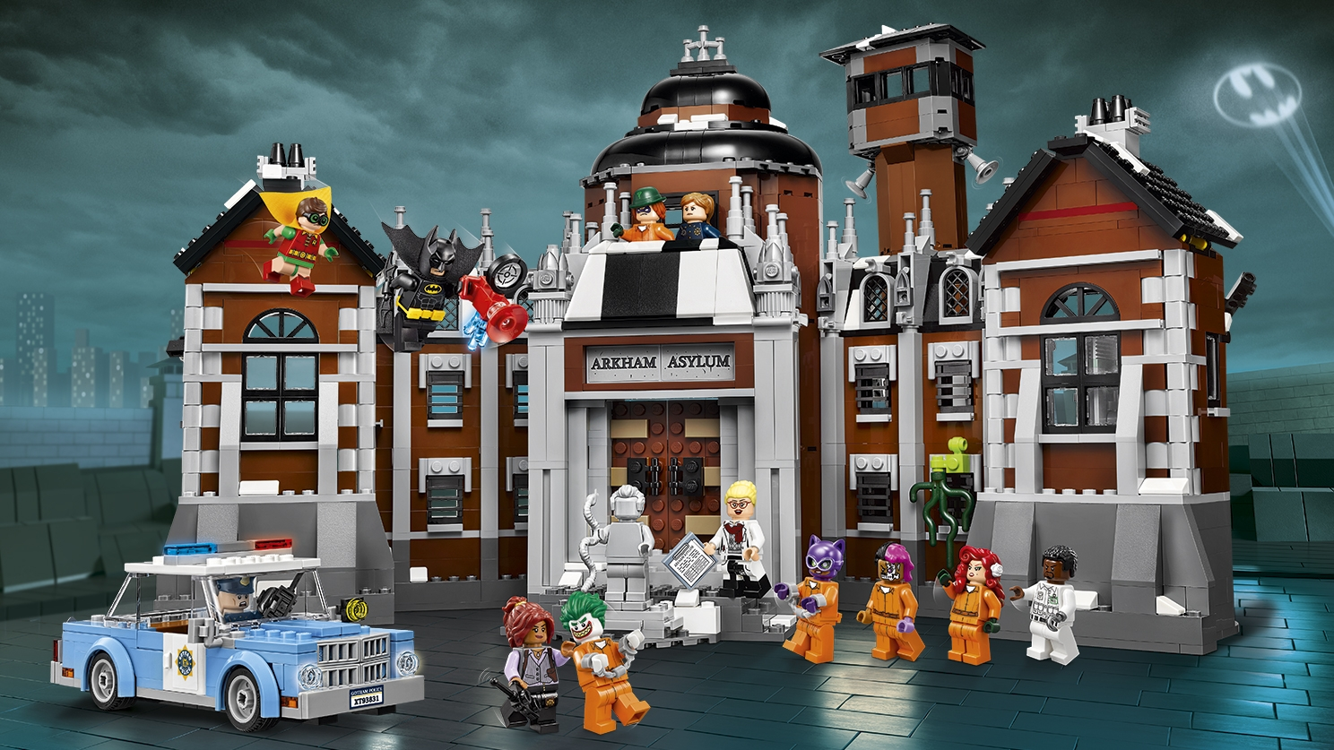 LEGO Batman Movie Arkham Asylum - 70912 - The villains of Gotham City have been caught and are inmates at the Arkham Asylum where they are controlled by police officers, doctors and Batman!