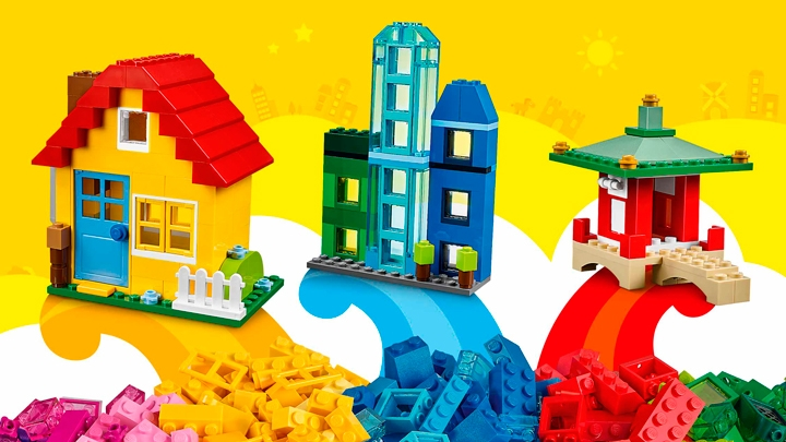 LEGO Classic Creative Builder Box - 10703 - Use a mix of yellow, blue and red bricks to build a house, skyscrapers or a Chinese temple!