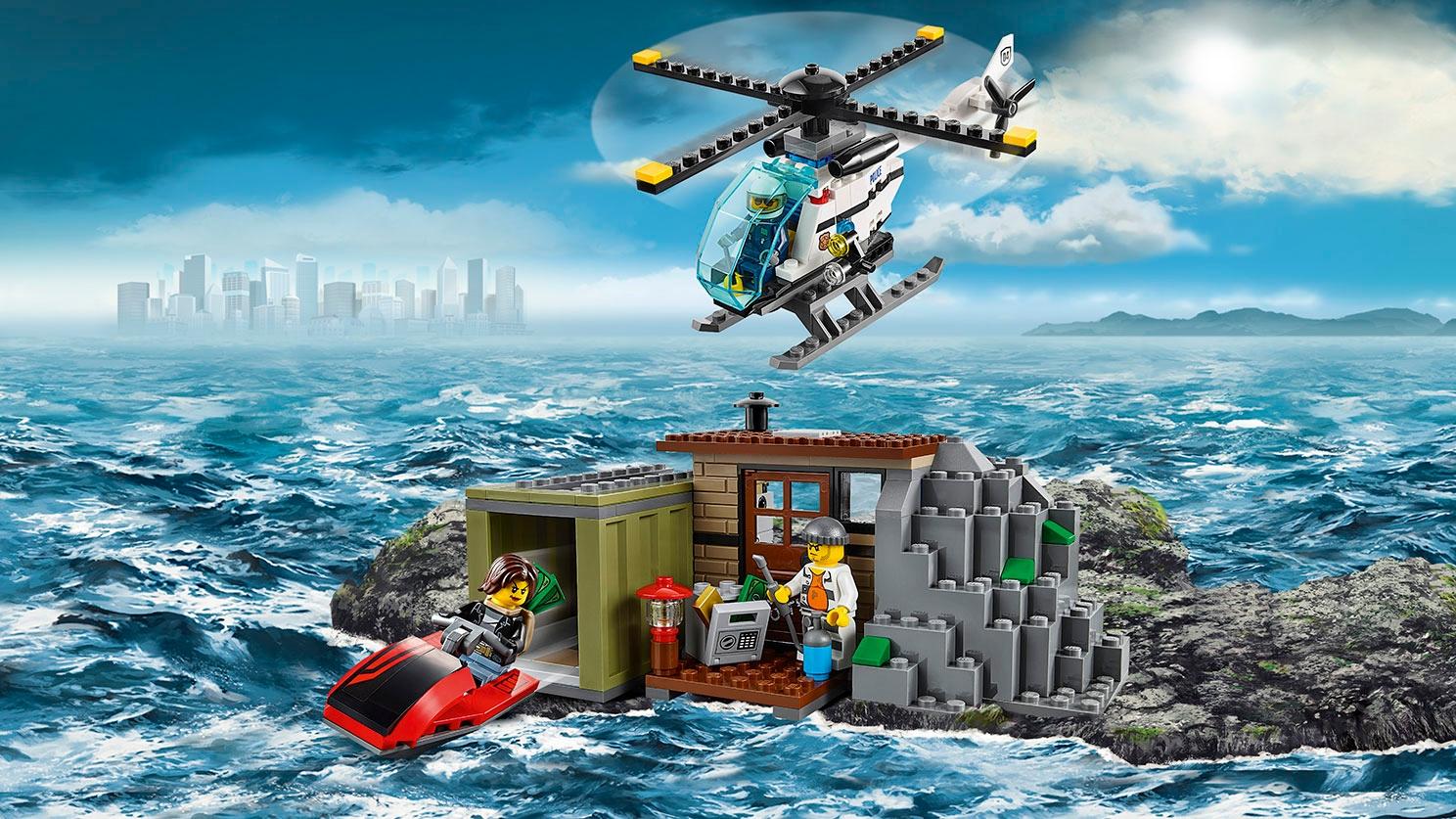 Nascondiglio delle minifigure dei ladri LEGO City – I ladri dell'Isola 60131