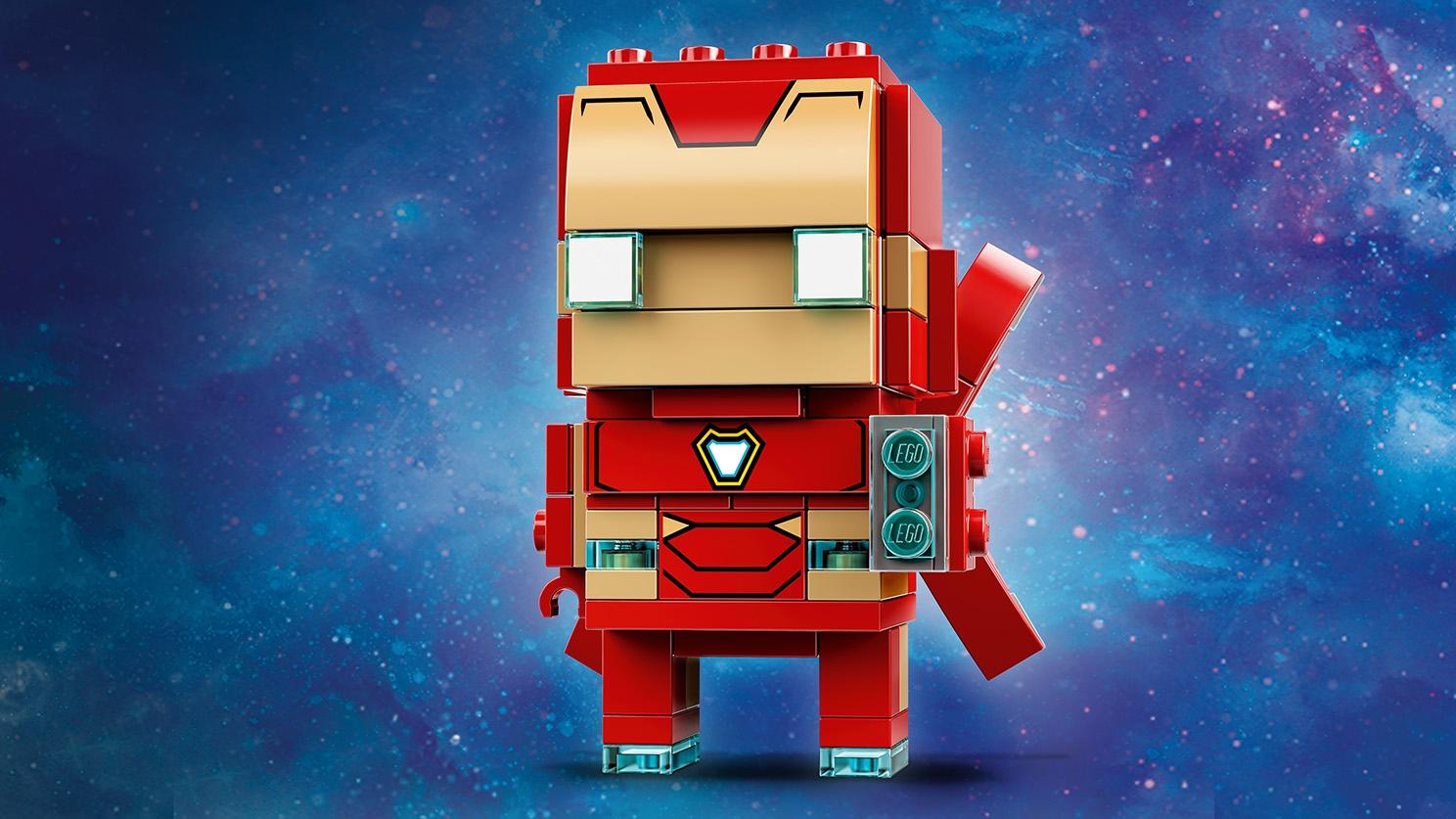 LEGO Brickheadz - 41604 Iron Man MK50 - Build a LEGO Brickheadz figure of Iron Man MK 50 in his red and gold super hero suit.