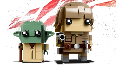 LEGO Brickheadz - 41627 Luke Skywalker & Yoda - Build LEGO Brickheadz version of these two characters from the movie Star Wars: Episode V The Empire Strikes Back and display them on individual baseplates.