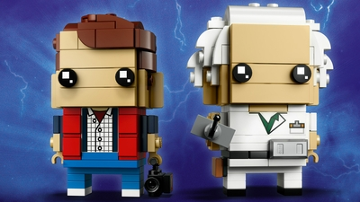 LEGO Brickheadz - 41611 Marty McFly & Doc Brown - Build these two characters from the Back to the Future movie and display them on their individual baseplates.