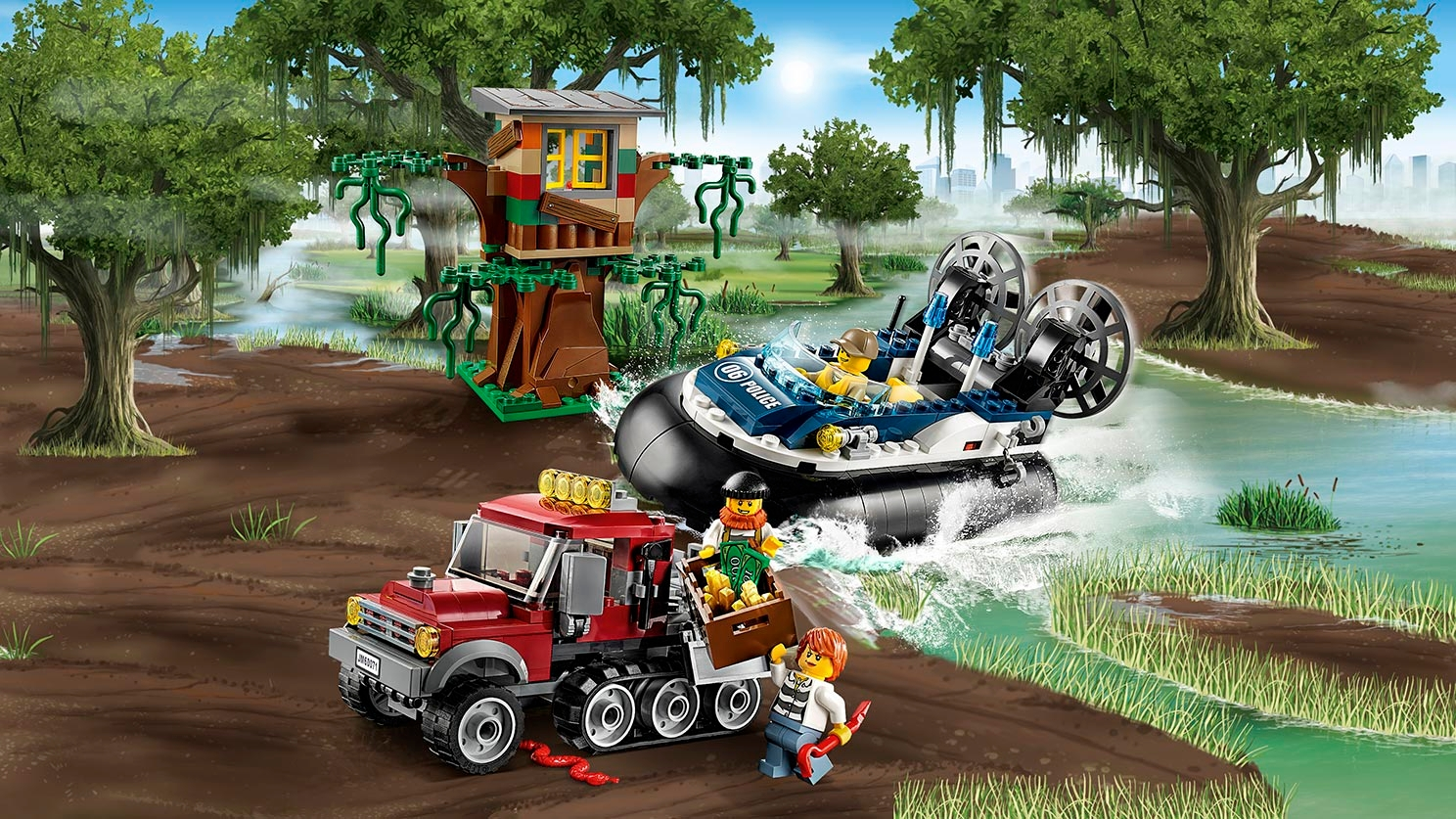 LEGO City Swamp Police chase - Hovercraft Arrest 60071