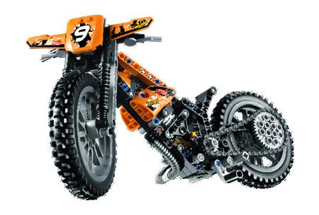 Lego® Motorrad Motocross Dirt Bike Bike grau City B#4