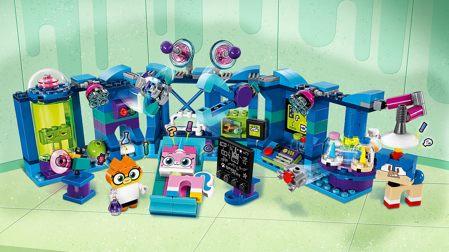 LEGO Unikitty - 41454 Dr. Fox Laboratory - Make lots of experiments with Dr. Fox to make sure there is always enough sparkle matter in Unikingdom!