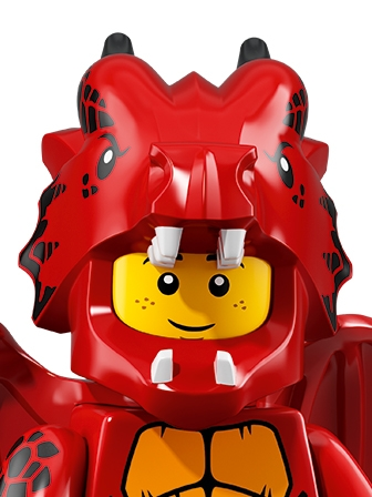 LEGO Minifigures Guy in Dragon Costume portrait