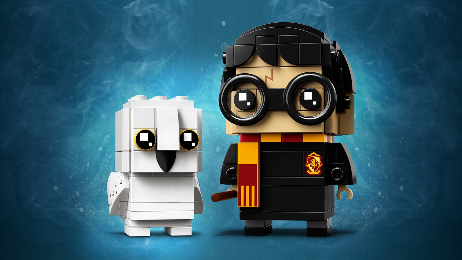 LEGO Brickheadz - 41915 Harry Potter & Hedwig - Build Harry Potter wearing Gryffindor scarf and his owl Hedwig from the movie Harry Potter and The Sorcerer's Stone.