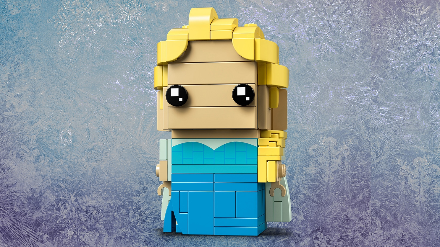 LEGO Brickheadz - 41617 Elsa - Build a LEGO Brickheadz version of Elsa from Disney movie Frozen with her iconic blonde braid and display her on a baseplate.