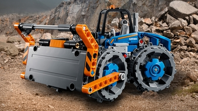 LEGO Technic - 42071 Dozer Compactor - Experience power in design with this vehicle, featuring a driver's cab, huge blade and massive compactor wheels.