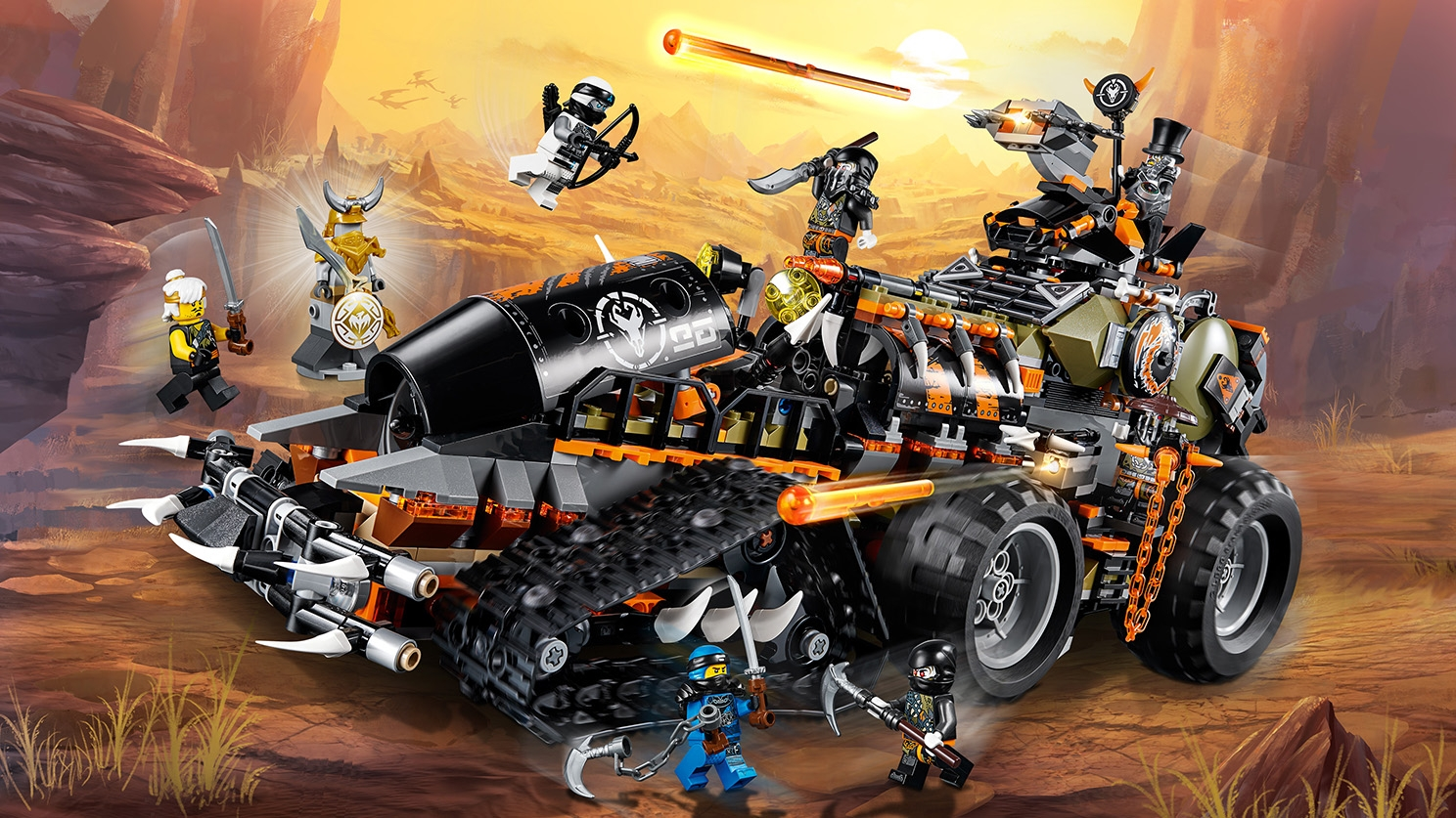 LEGO Ninjago - 70654 Dieselnaut - The evil dragon hunters attack the ninjas in their Dieselnaut tank in an attempt to claim the full Dragon Armour.