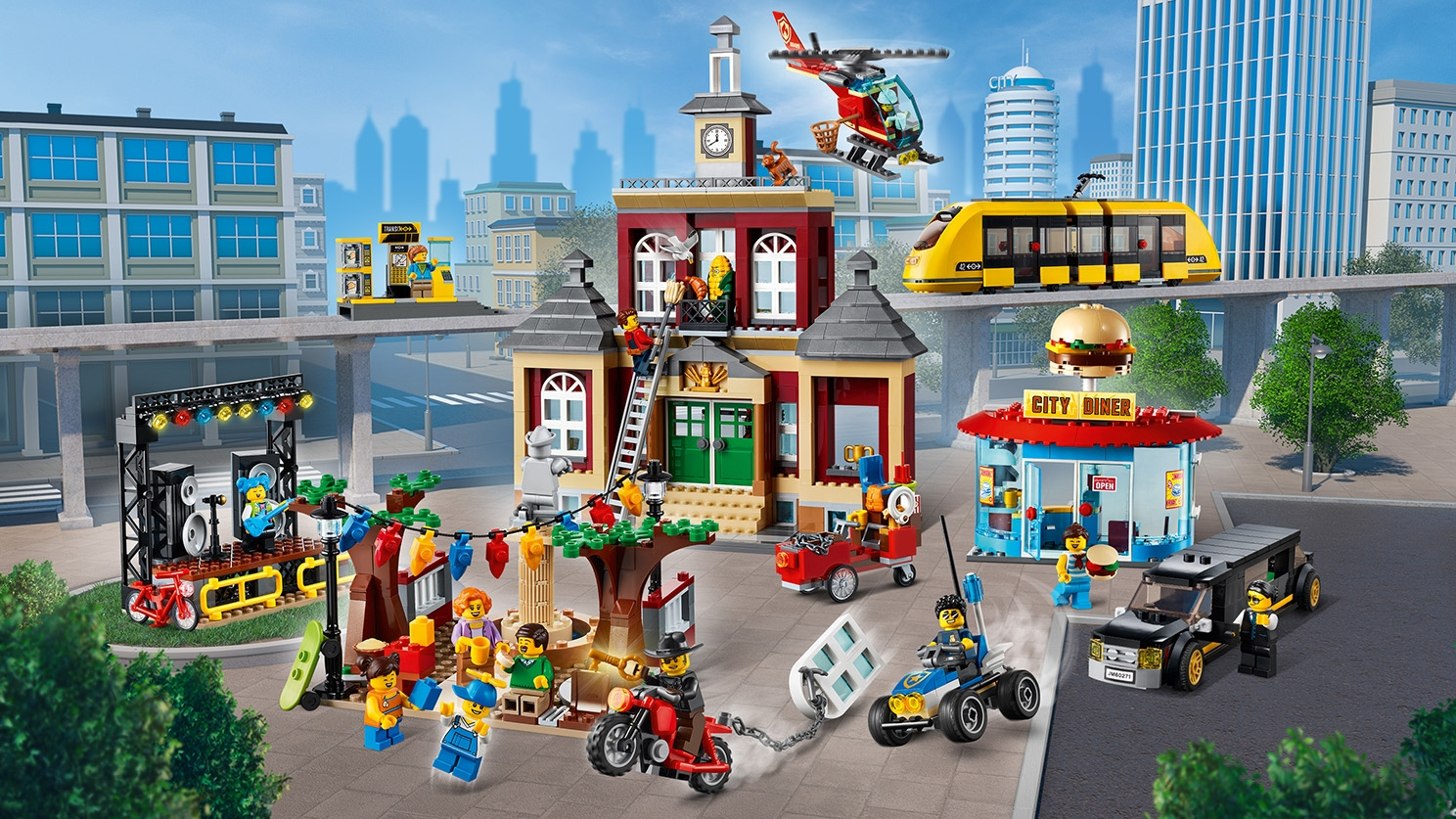 Split From 60271 City Square Only LEGO 60271 City Hall