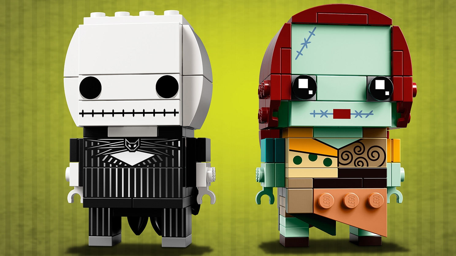 LEGO Brickheadz - 41630 Jack Skellington & Sally - Build LEGO Brickheadz versions of the pumpkin king Jack Skellington and his sweetheart Sally from the movie The Nightmare Before Christmas.