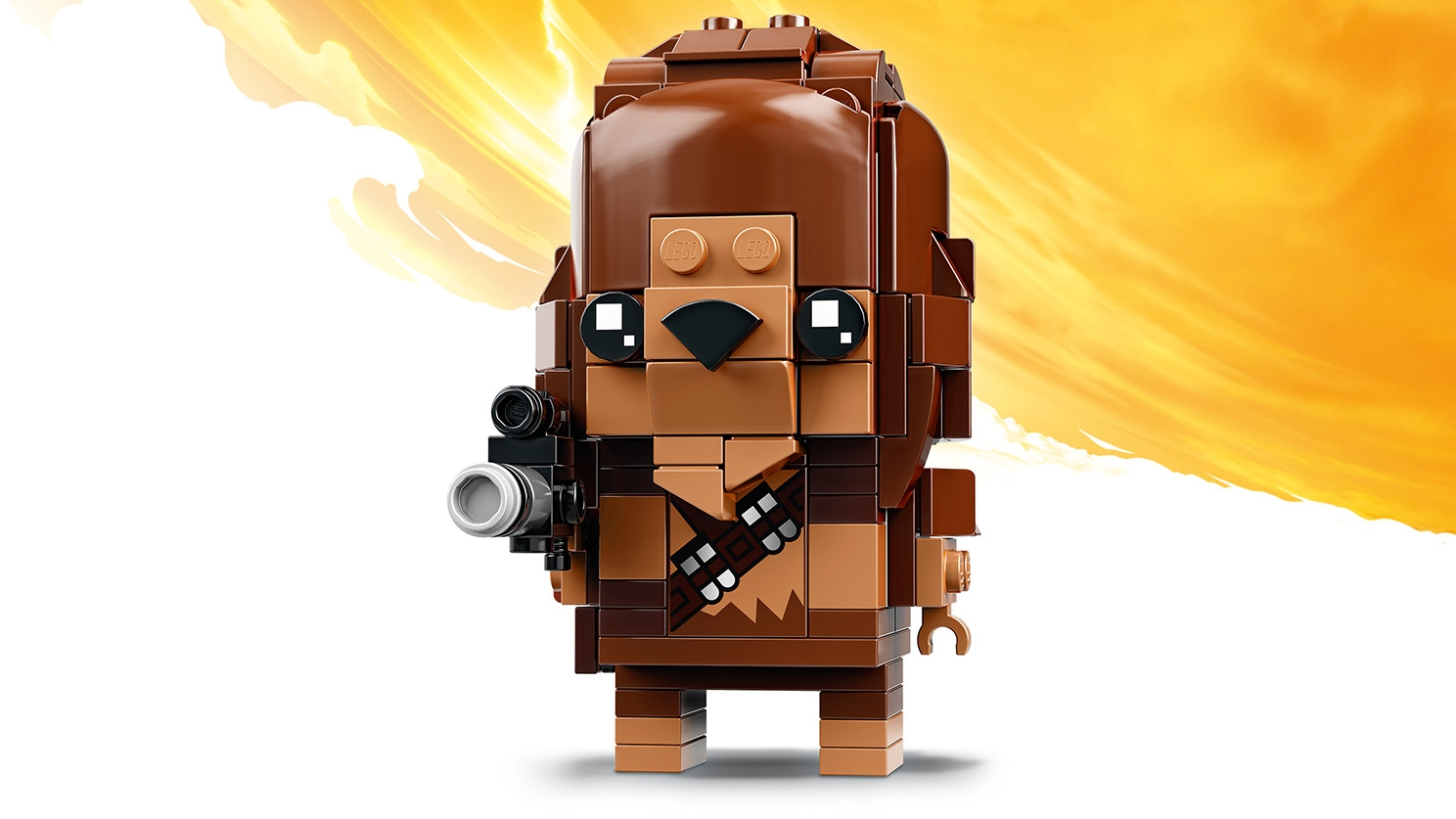 LEGO Brickheadz - 41609 Chewbacca - Build a LEGO Brickheadz figure of Chewbacca from the Star Wars saga. Check out his iconic matted fur, ammunition belt and blaster.