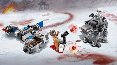 75195 - LEGO Star Wars - Ski Speeder™ vs. First Order Walker™ Microfighters - Space, Battle, Laser Shooter