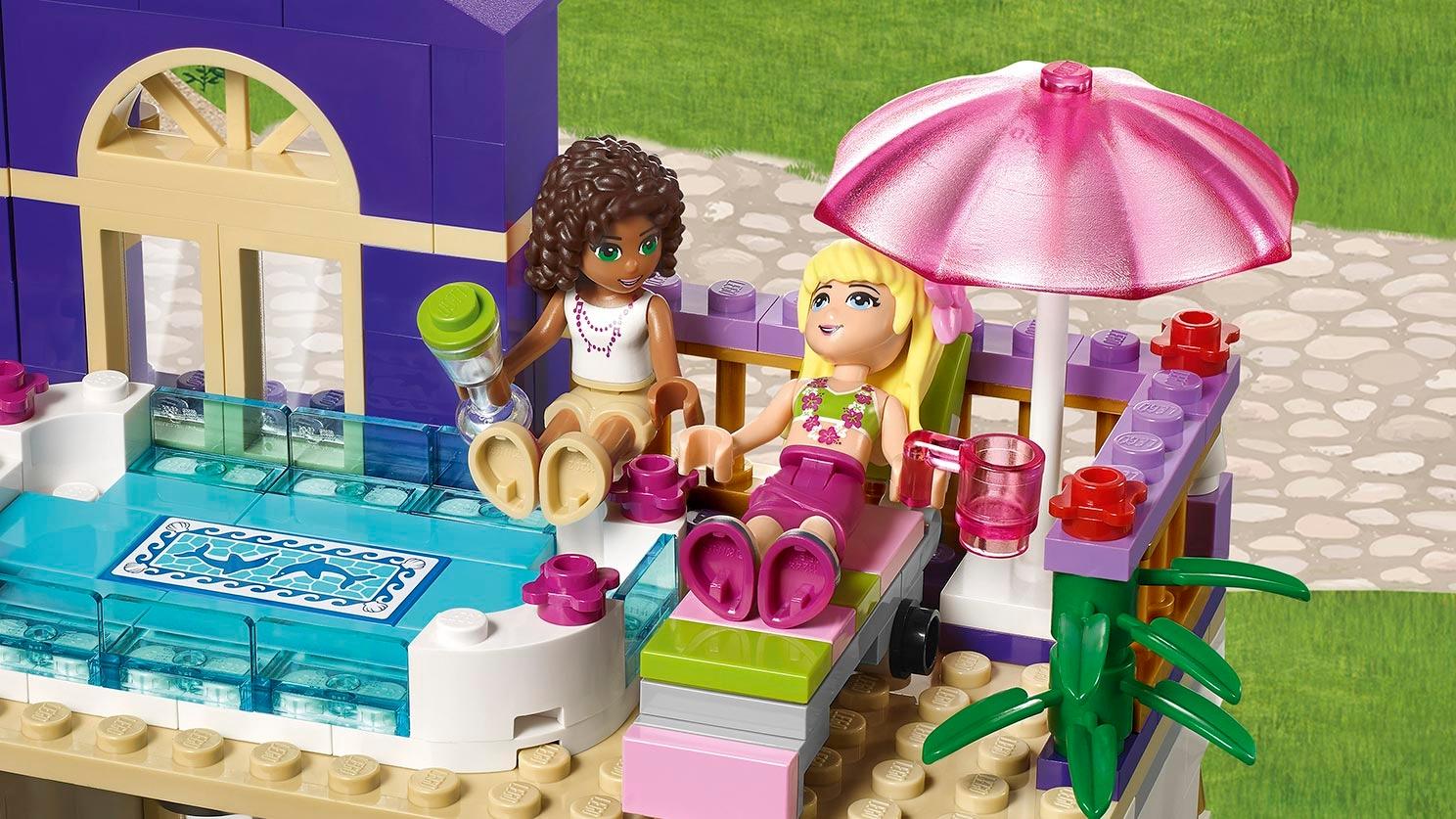 كمية كبيرة مواطن الفراولة Lego Friends Grand Hotel Zetaphi Org