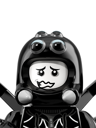LEGO Minifigures Guy in Spider Costume portrait