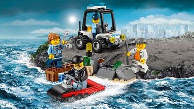 LEGO City Intervention de la police de la prison en haute mer – L'ensemble de démarrage de l'île de la prison – 60127