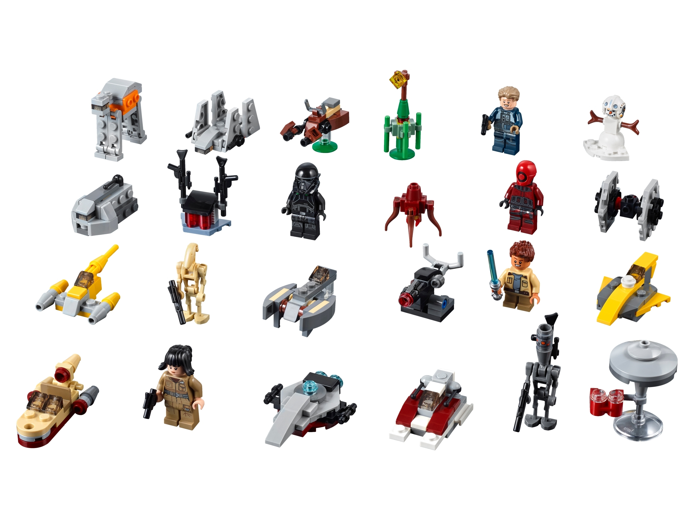 LEGO STAR WARS SET OF 6 MODELS CLOUD CITY AT-ACT MINI BUILDS PARTY BAG FILLERS