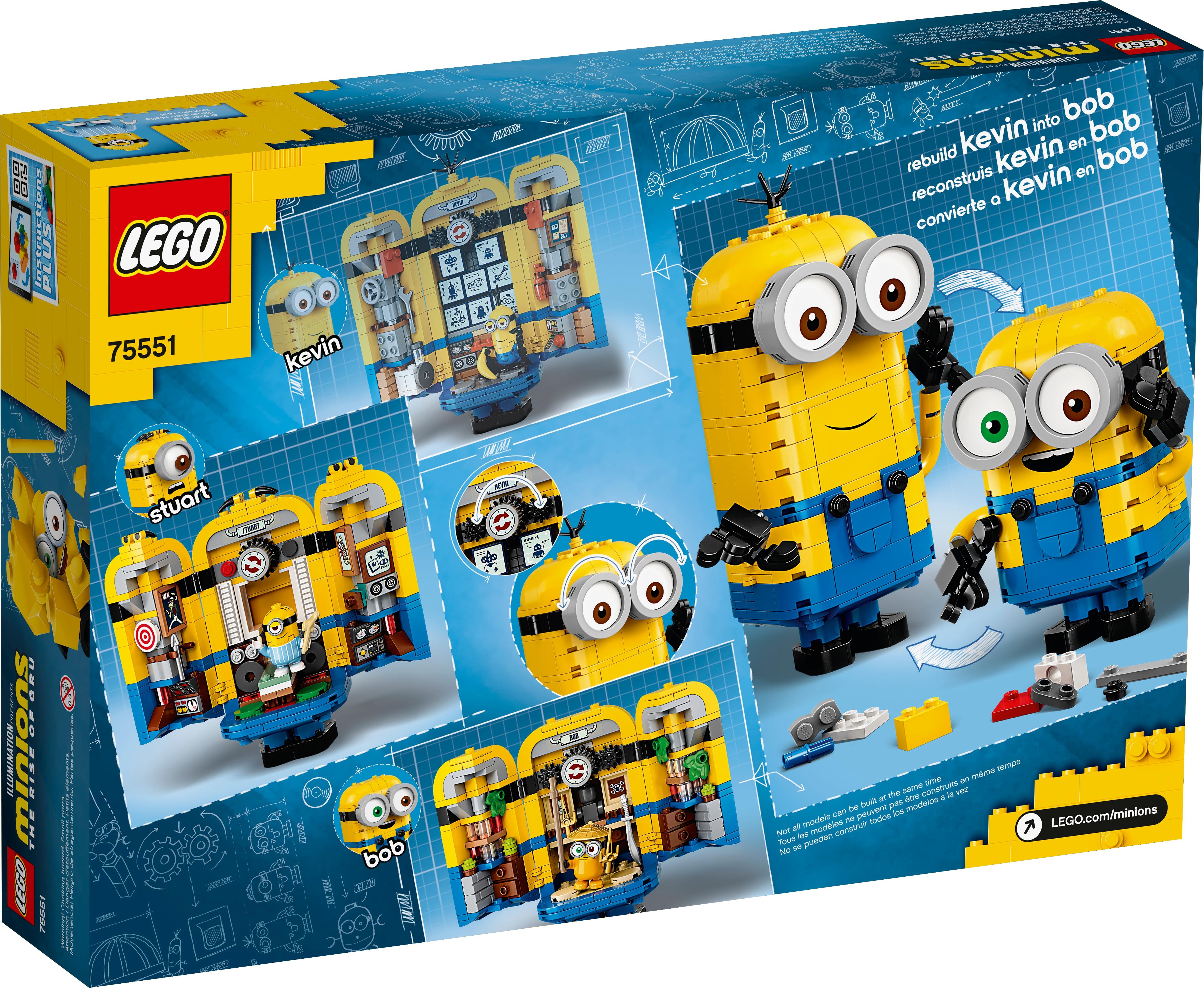 LEGO Minions Brand New Boxed Free Postage! Brick-built Minions /& Lair 75551