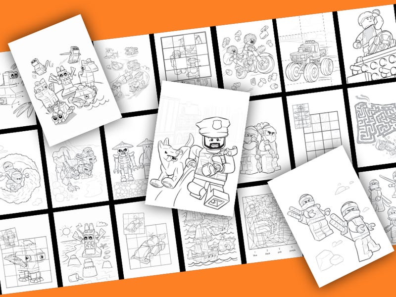 The Lego Movie coloring pages printable games #2 | 600x800
