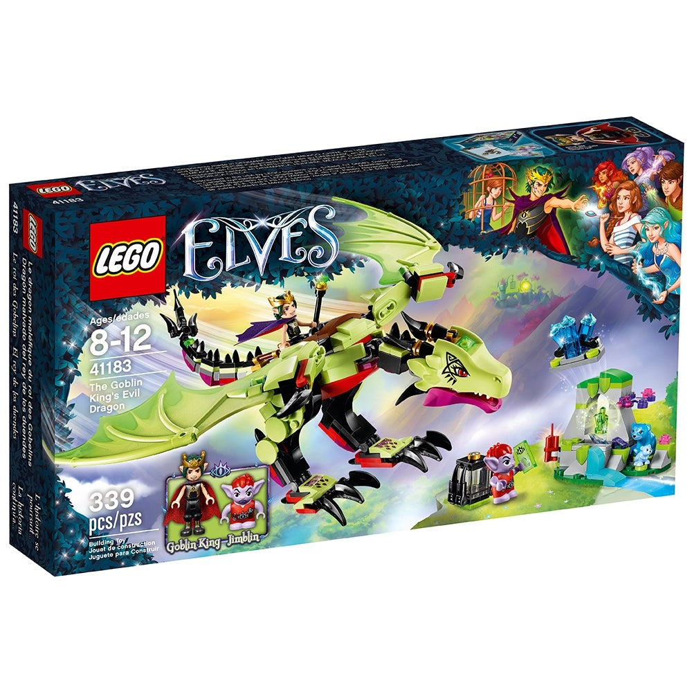 LEGO SET FILLE ELVES POLYBAG FIGURINE MINIFIG LE PETIT DRAGON BLEU DES ELF