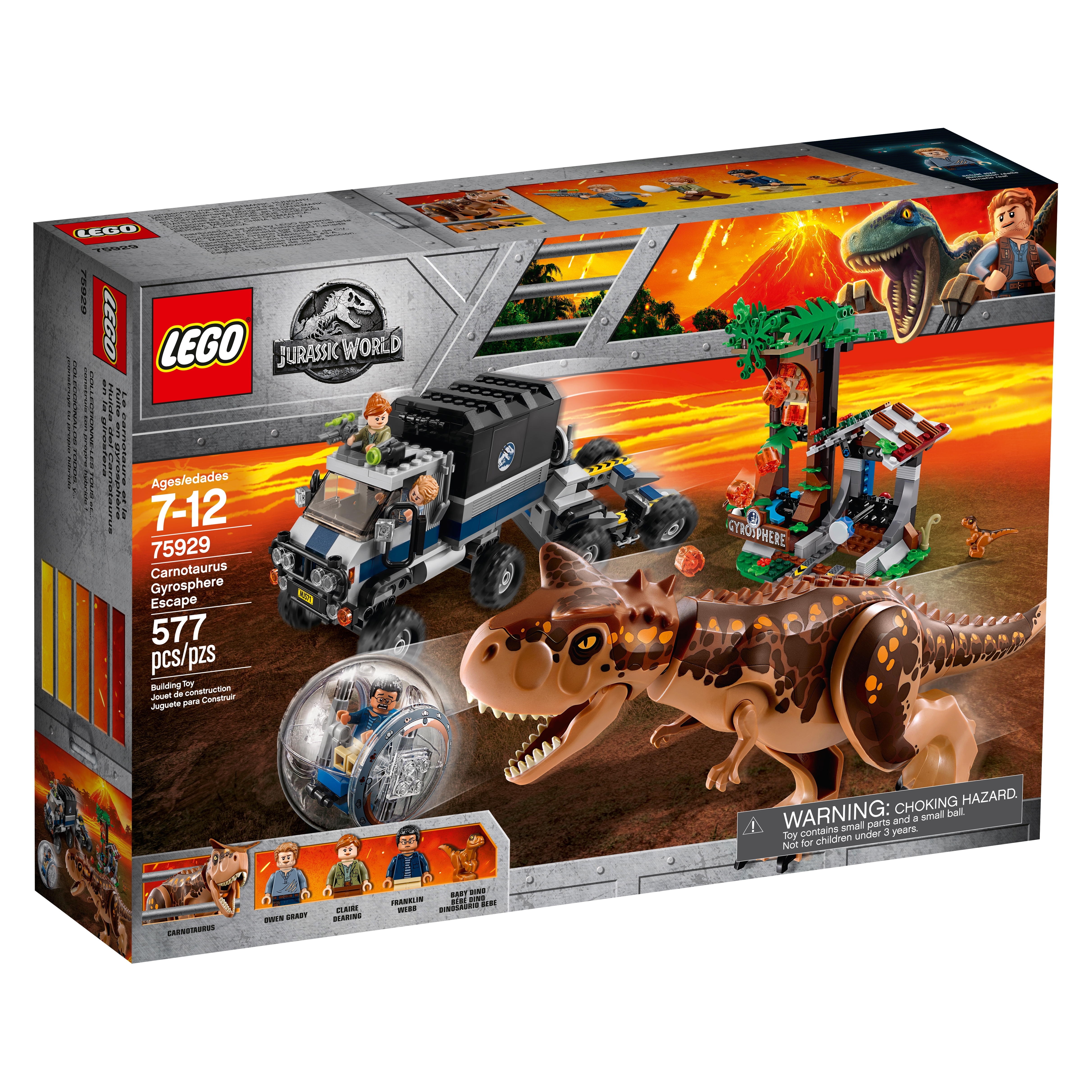 """75929 NEW LEGO Jurassic World /""""Gyrosphere Escape/"""" Minifig Claire Dearing"""