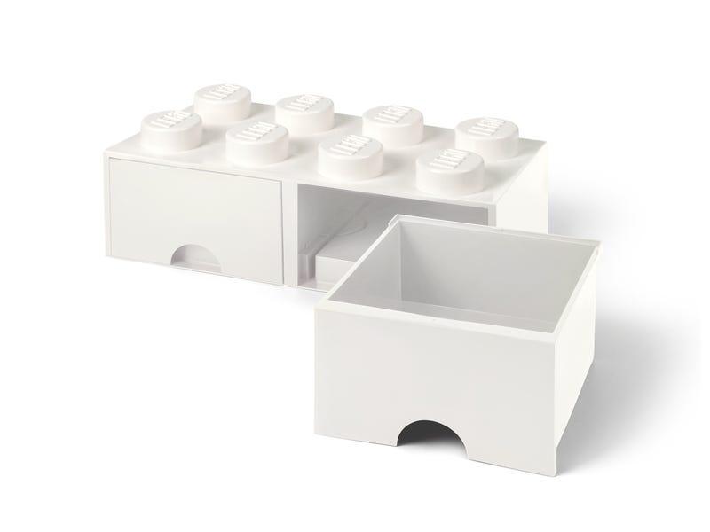 LEGO 8-Stud White Storage Brick Drawer