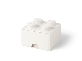 LEGO® 4-Stud White Storage Brick Drawer