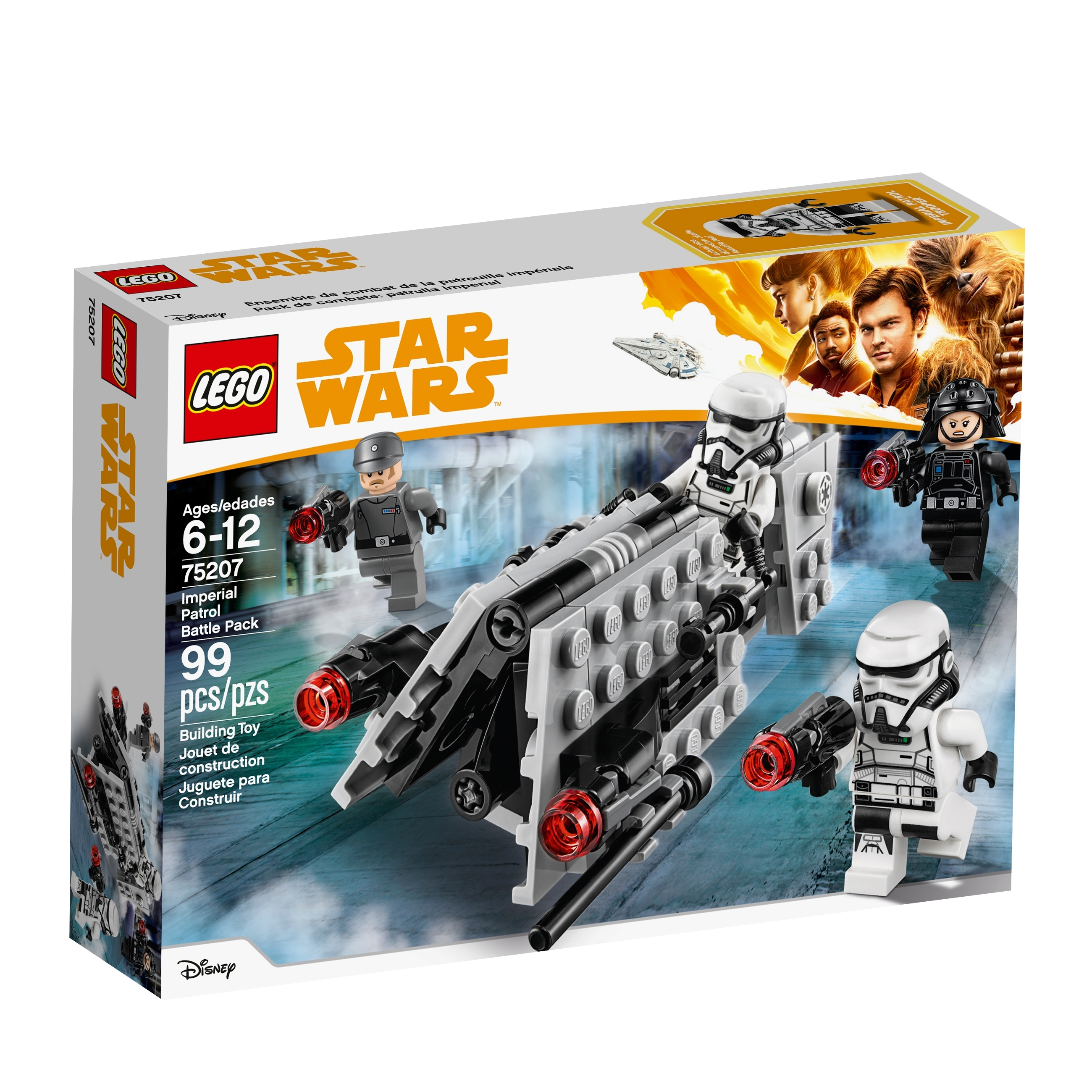 1 ORIGINAL lego star wars IMPERIAL PATROL TROOPER 75207 M-GUN SHOOTING POINT
