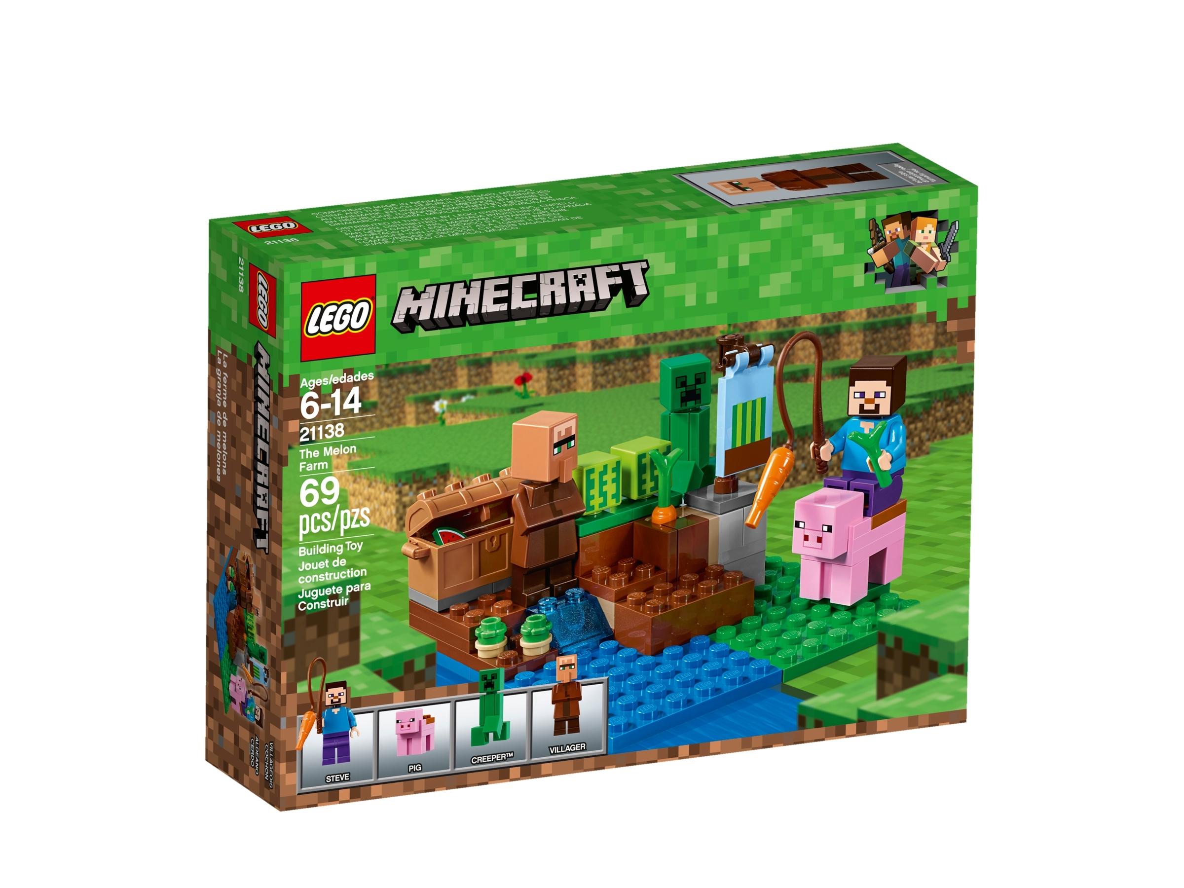 6212345 69 Piece LEGO Minecraft The Melon Farm 21138 Building Kit