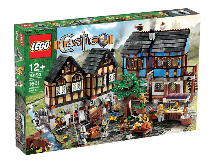 The LEGO® Medieval Market Village, 2009. Can you spot the blacksmith?