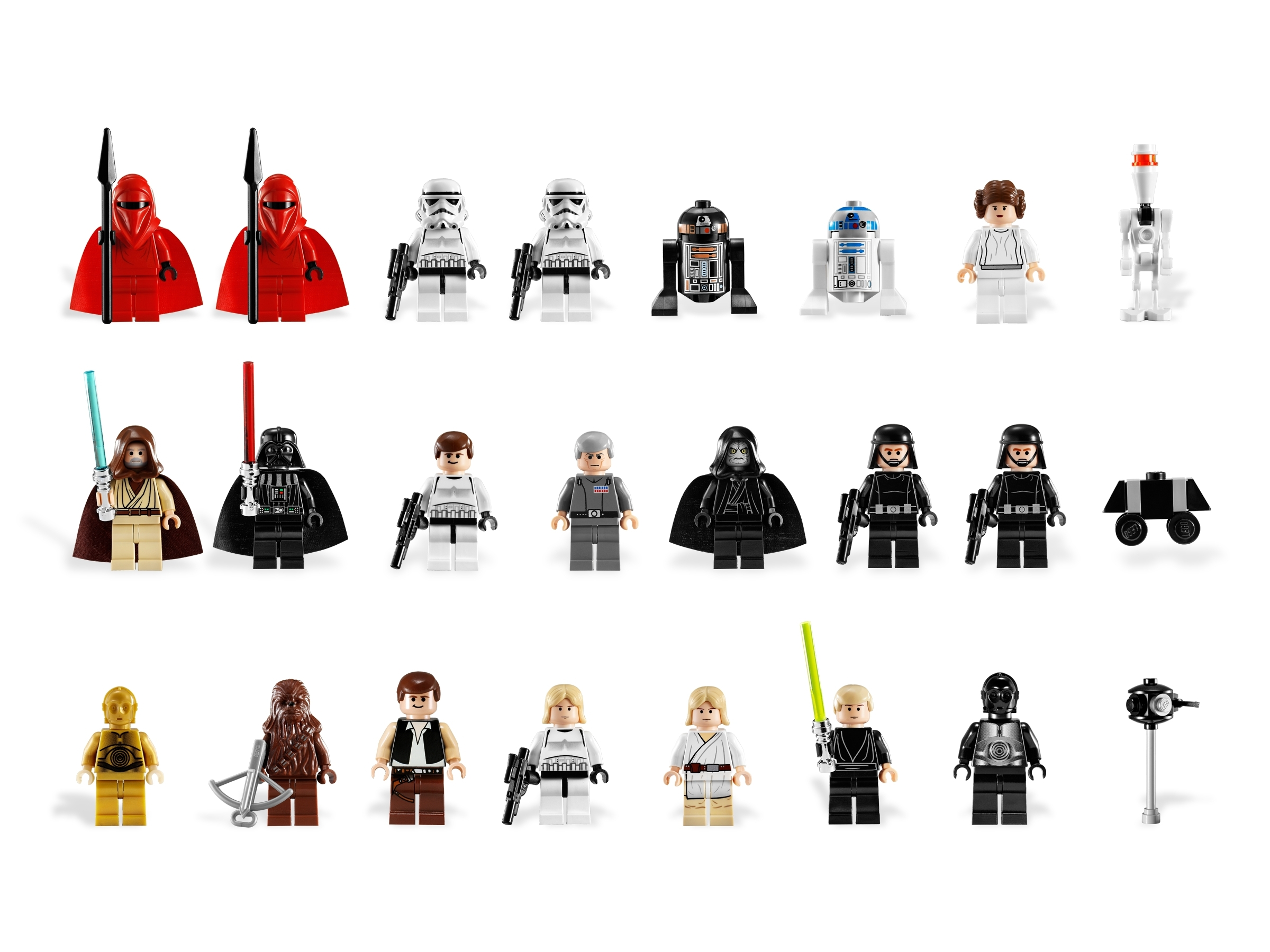 Lego Minifigure StarWars from 10188 Luke Skywalker,DarthVader.Obi-Wan,Palpatine