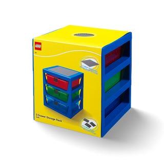 Système de rangement LEGO® bleu transparent