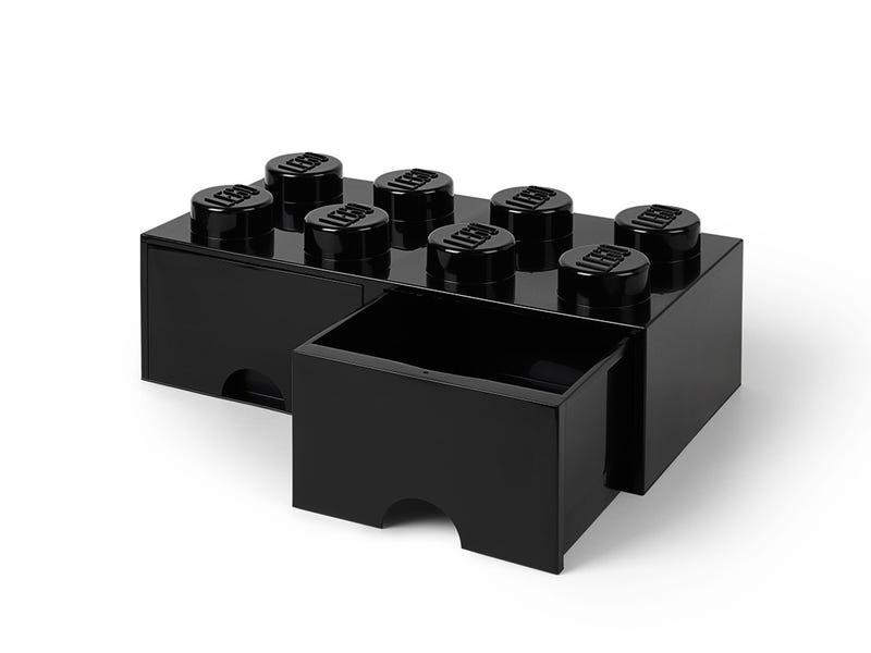 LEGO 8-Stud Black Storage Brick Drawer