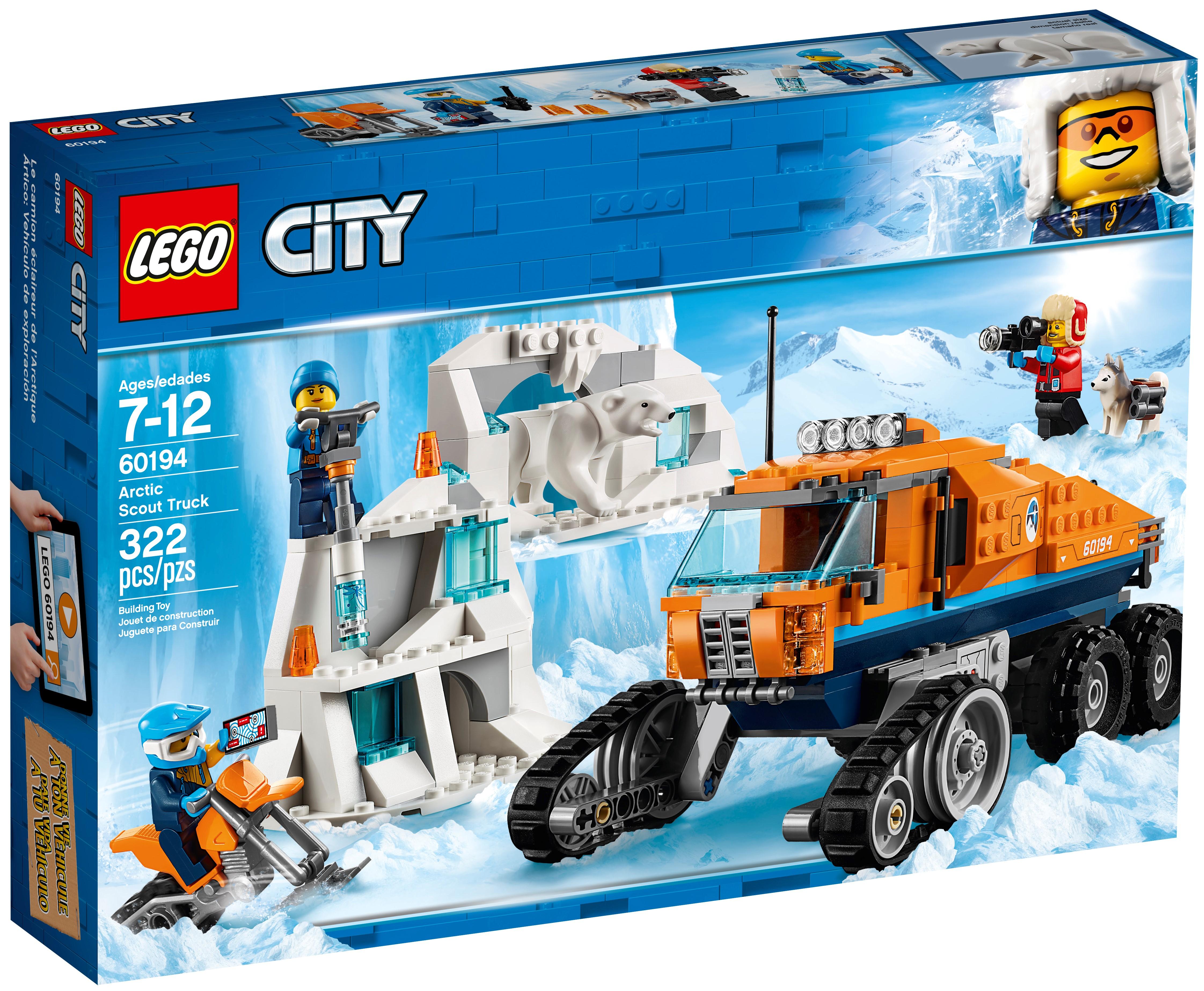 Lego City Town Arctic Scout Truck 60194 NEW Building Set Polar Bear Snowmobile